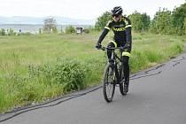 Cyklostezka v katastru Málkova.