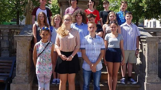 Členové žákovského zastupitelstva Klášterce nad Ohří