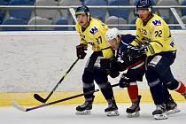 Přípravné hokejové utkání Chomutov - Ústí.