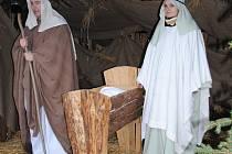 Josef a Marie s Jezulátkem na Červeném Hrádku.