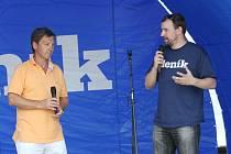 Generální ředitel KLH Chomutov Milan Vacke, kterého zpovídal šéfredaktor Chomutovského deníku Josef Dušek.
