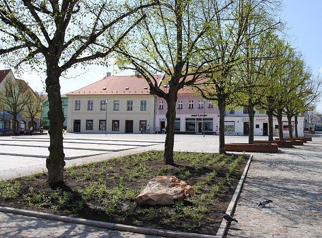 Náměstí v Jirkově.