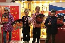Na fotografii zleva: Klára Hlaváčová, Laura Zimmermannová, Alice Jansová, Jiří Hlaváč.