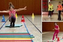 SPORT, CO BAVÍ. Tak to vypadá v Prázdninové miniškole sportu v Chomutově. Včerejší odpoledne děti trávily zdoláváním opičí dráhy a fotbalem. Každý si může vybrat, co ho baví.