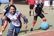 Na snímku útočnice Helena Benešová.