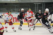 Z druhého barážového zápasu Piráti Chomutov - HC Olomouc.