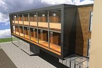 Takto se promění původní skelet galvanovny. Vznikne z něj moderní HOtel Star 3 se sto dvaceti lůžky ve dvojlůžkových pokojích a apartmánech. Součástí má být kurt, krytý bazén a bowling.
