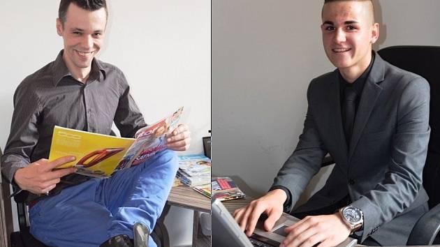 Dva Chomutováci: Třicetiletý František Pešek (vlevo) a osmnáctiletý Lukáš Čech (vpravo), budou v září v Praze usilovat o Česko-Slovenský titul Gayman 2016.