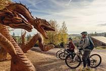 Nová cyklostezka je na německé straně Krušných hor.