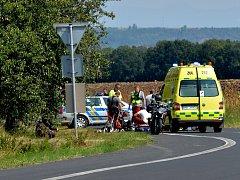Dopravní nehoda se stala v Polákách nedaleko Nechranické přehrady.
