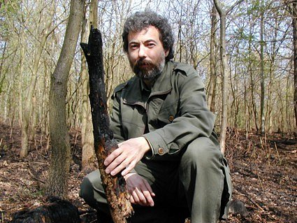 Jaromír Fiala, pověřený řízením Lesů města Jirkova, na místě požáru.