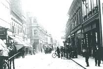 Ruská, původně Kamenná (Steingasse) ulice.