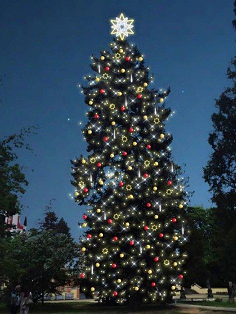 Tak by mohl vypadat živý vánoční strom ukláštereckého zámku