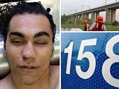 Policie pátrá po totožnosti muže, který ve středu 28. června skočil ze železničního mostu přes přehradu Kyjice