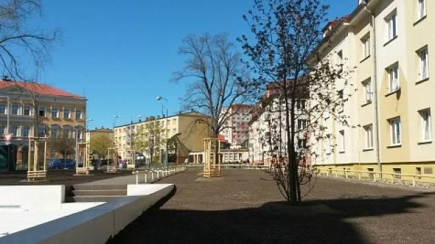 Löschnerovo náměstí v Kadani.