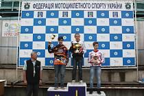 Vlevo stříbrný Jakub Terešák. První byl Chetnicki (Polsko), třetí skončil Asmanov (Ukrajina).