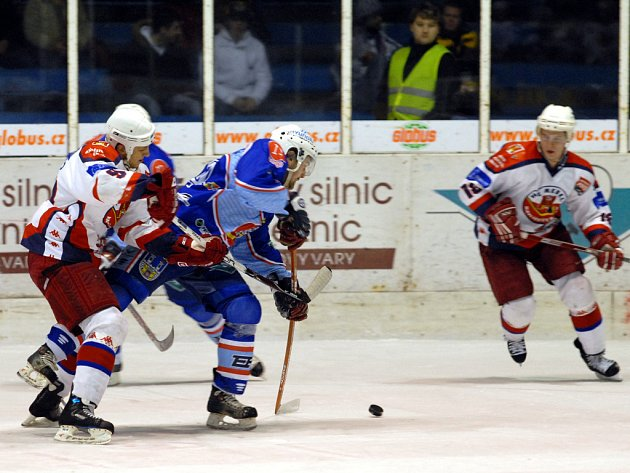 Snímek ze zápasu KLH Chomutov s Havlíčkovým Brodem.