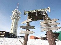 KLÍNOVEC. První sněhová nadílka.