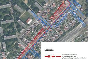 V Moravské a v přilehlých ulicích v Chomutově se bude opravovat vodovod a kanalizace.