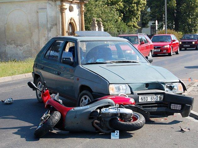 Snímek nehody.
