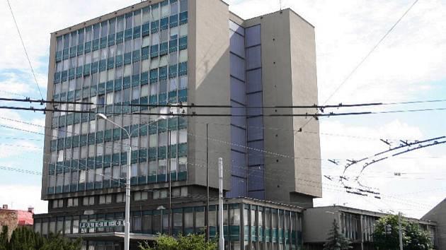 Budova Okresního ředitelství Policie ČR v Chomutově.
