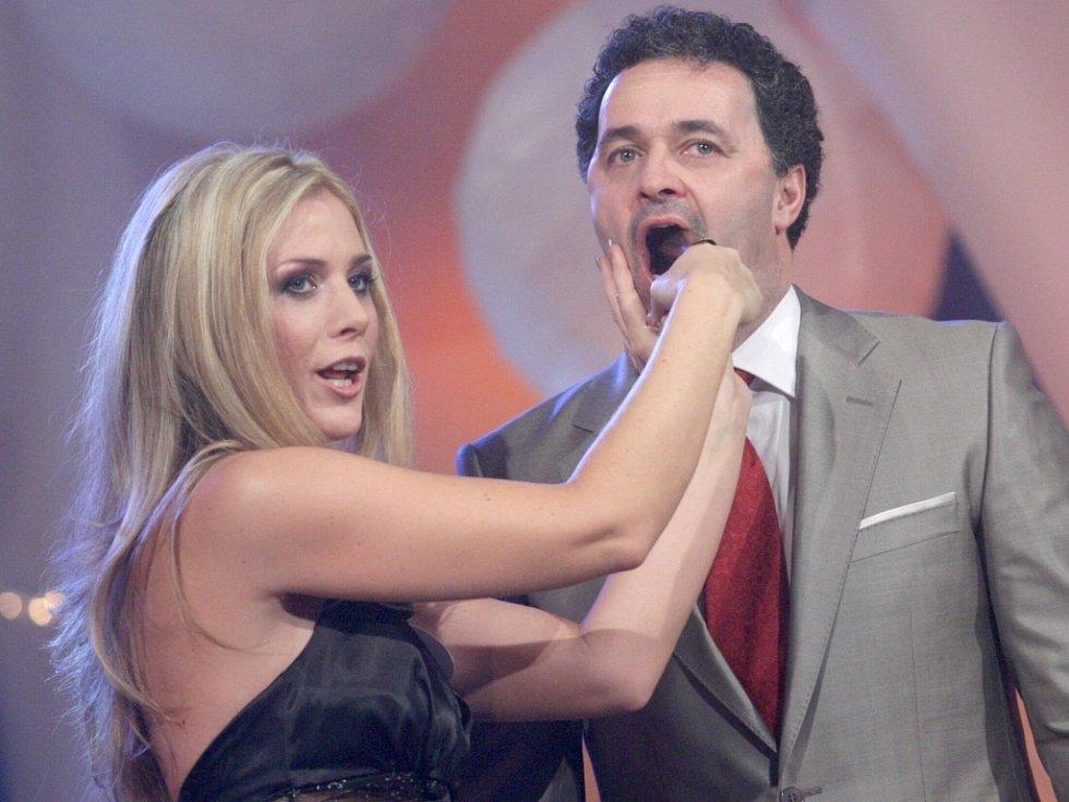 Zuzana Panáčková z Moravské Ostravy s moderátorem Martinem Dejdarem