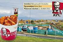 KFC staví prodejnu pod bauMaxem