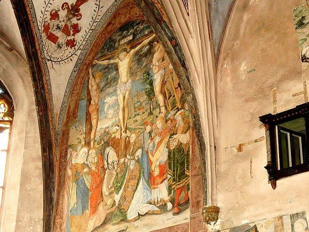 Unikátní fresky ve Františkánském klášteře.