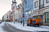 Zima v Chomutově.