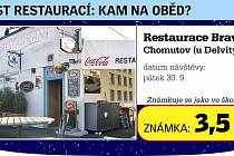 Restaurace Bravo u Delvity.