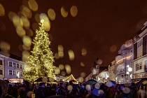 Rozsvícení vánočního stromu v Chomutově v roce 2018