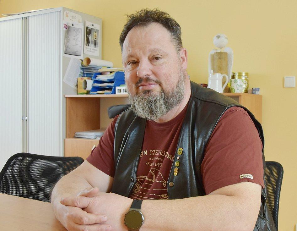 Starosta Vrskmaně Václav Hora.
