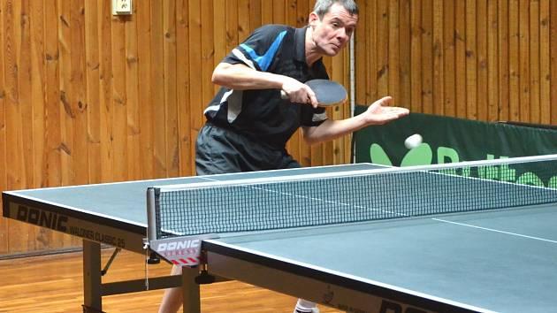 Ve dvou utkáních dokázal získat nejvíc bodů pro Jirkov Jiří Šmucr na snímku.