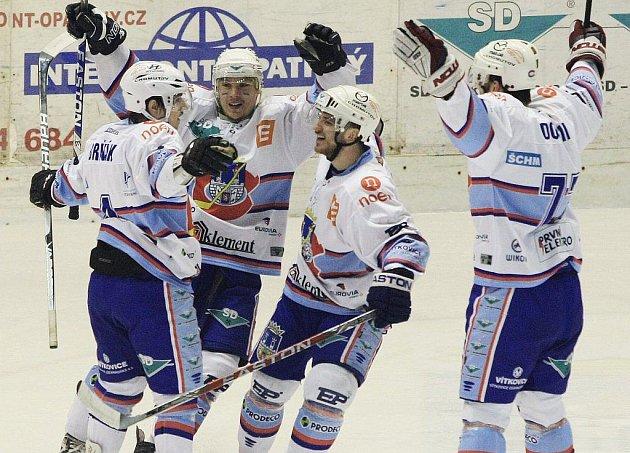 Radost chomutovských hokejistů.