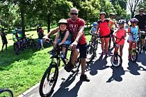 Akce na Dračí cyklostezce ve Březně u Chomutova