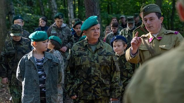 Muzeum vojenské historie Na Kočičáku navštívila brigádní generálka v české armádě Zuzana Kročová.