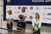 Simona Baumrtová byla v Plzni šestkrát na nejvyšším stupni.