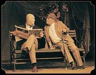Snímek z představení Tři na lavičce