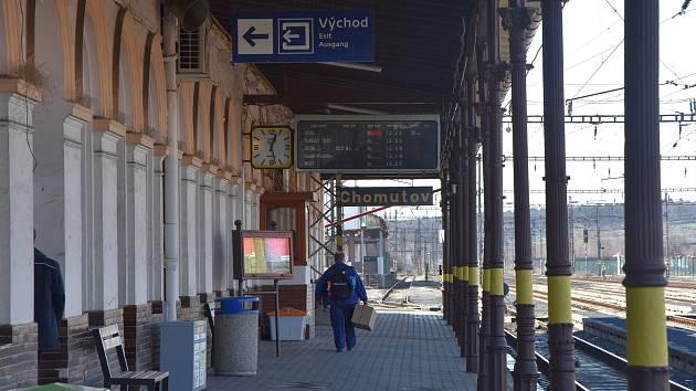 Chomutovské hlavní nádraží.