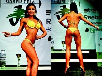Tereza Jakubcová získala 1. místo jako bikini fitness v Grand Prix Jalex Krnov. Současně skončila třetí v kategorii žen. Foto: