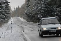 Sjízdné jsou i horské Vejprty.