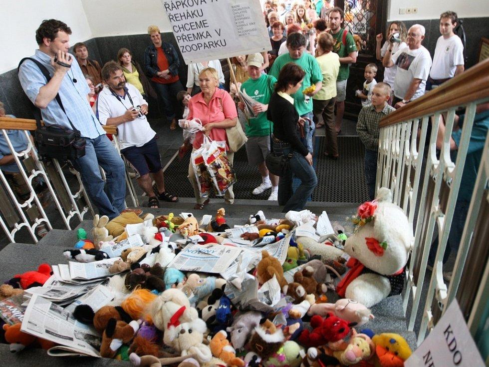 Zvířátková demonstrace.