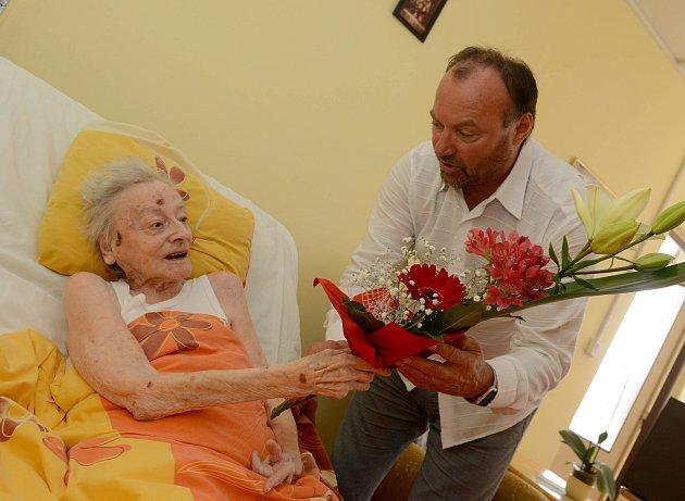 Bohuslava Nobilisová z Chomutova  oslavila 107. narozeniny.