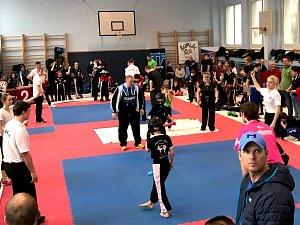 """Mezinárodní turnaj pro začínající kickboxery """"Kadaň Open 2018"""", přilákal do Kadaně 79 borců."""