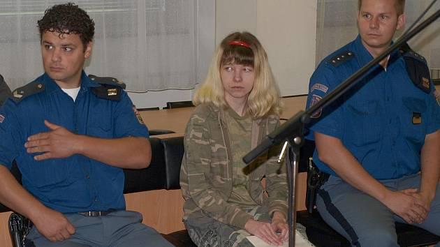 Michaela Palivová u soudu.