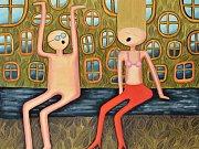 Naladěni na stejné vlně. Nový obraz malířky Sylvy Prchlíkové, který bude na Chomutovském výtvarném salónu