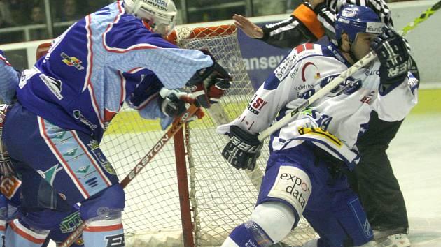Snímek ze zápasu Komety Brno s KLH Chomutov.