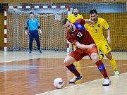 Utkání reprezentace ČR (v červeném) proti Rumunsku