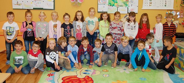 Žáci 1.B ze Základní školy Akademika Heyrovského vChomutově paní učitelky Jany Rožové.