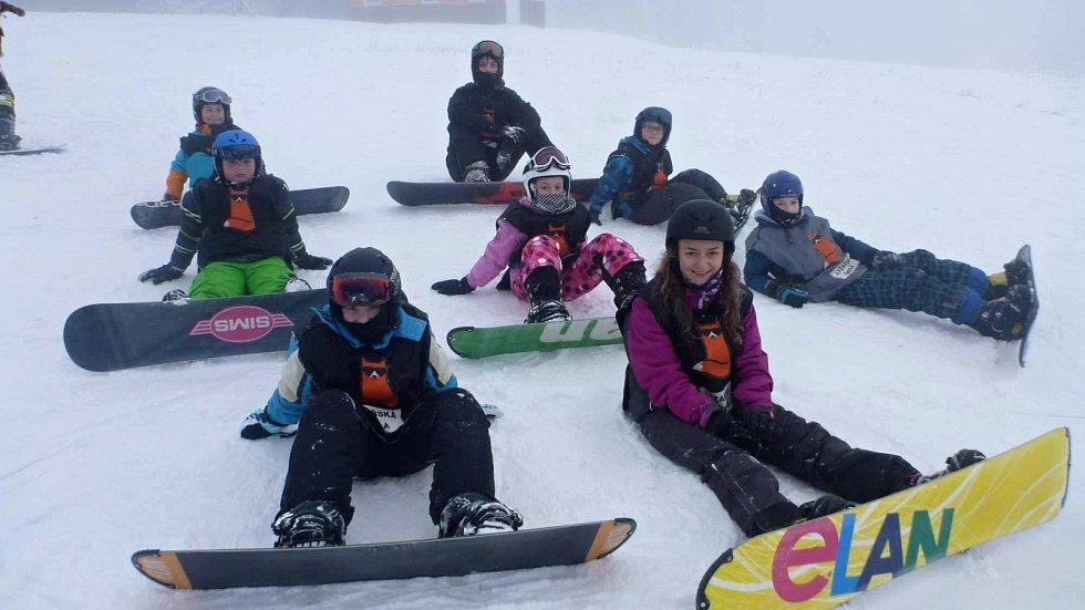 Výuka snowboardu